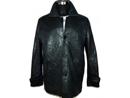 KOŽENÁ pánská šedočerná měkká bunda vel. L