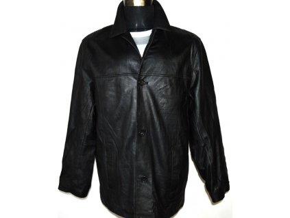 KOŽENÁ pánská černá měkká bunda Menswear L
