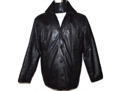 KOŽENÁ pánská měkká černá zateplená bunda Heeli London M