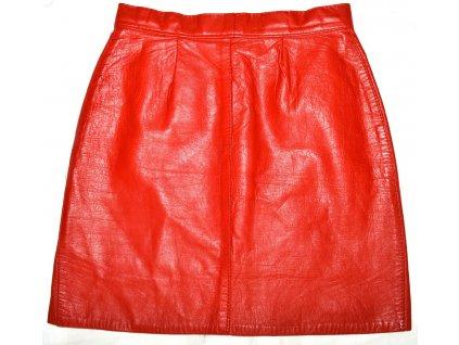 Dámská červená kožená sukně GAVIN BROWN UK 10