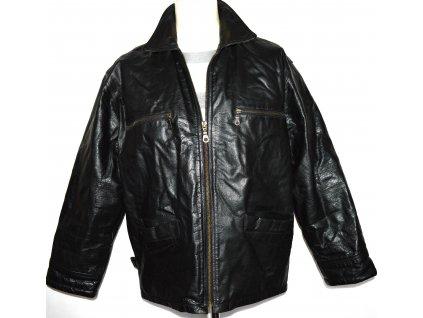KOŽENÁ pánská černá bunda na zip vel. L