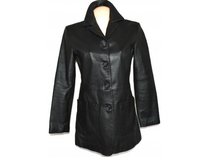 KOŽENÝ dámský černý kabát PARIS M, L, L/XL, XL