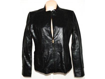 KOŽENÁ dámská černá bunda na zip HEELI London L/XL