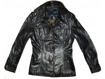 KOŽENÁ dámská černá bunda JACK XS