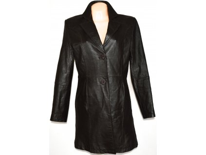 KOŽENÝ dámský hnědý kabát CERO M/L, L