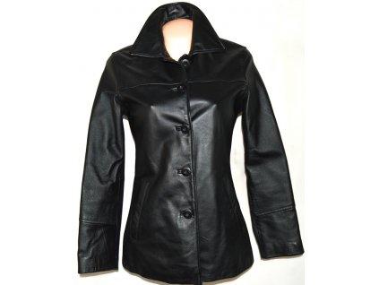 KOŽENÝ dámský černý kabát DIFFERENT S, XXL