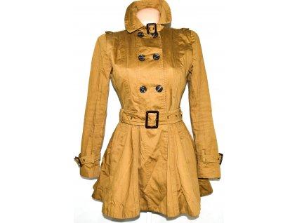 Bavlněný dámský hnědý kabát s páskem TOPSHOP 10/38