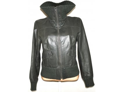 KOŽENÁ dámská šedá bunda Y.O.U.