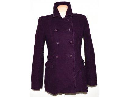 Bavlněný dámský fialový kabát JIGSAW M