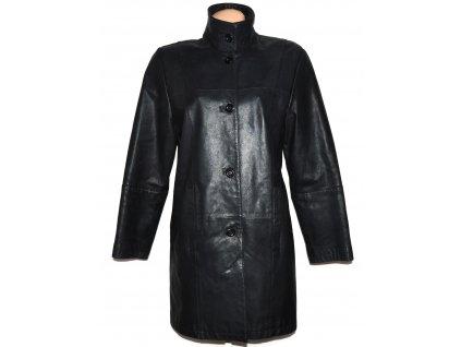 KOŽENÝ dámský měkký černý kabát CERO XL/XXL