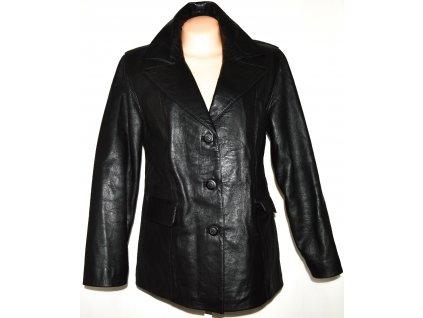 KOŽENÉ dámské černé sako XL