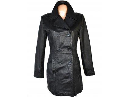 KOŽENÝ dámský černý kabát Clockhouse