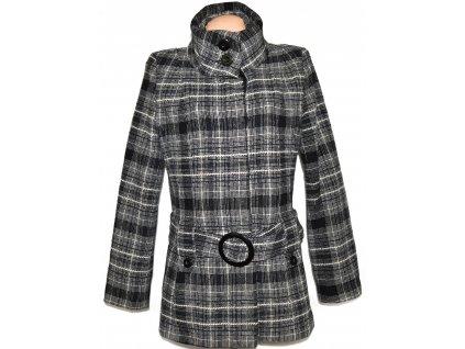 Dámský černobílý kabát s páskem Jane Norman L