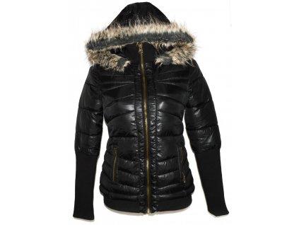 Dámský černá šusťáková bunda s kapucí GATE S / 36