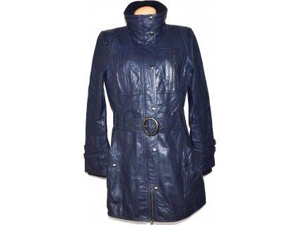 KOŽENÝ dámský fialový kabát s páskem VERO MODA XL