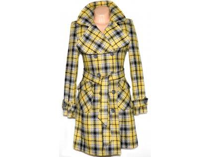 Dámský černo žlutý kabát s páskem GATE 36