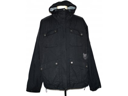 Pánská šedá pruhovaná bunda s kapucí Horsefeathers L