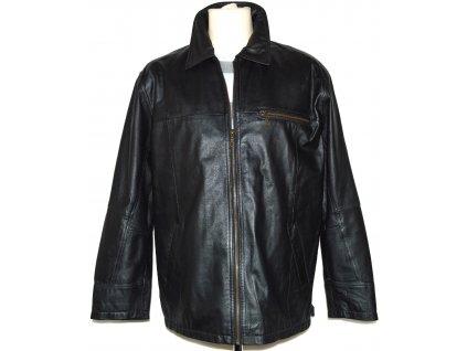 KOŽENÁ pánská černá měkká bunda na zip EXPLORER