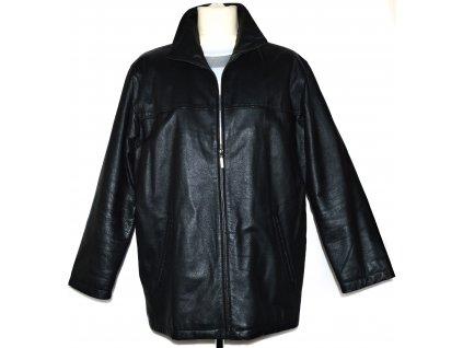 KOŽENÁ pánská měkká černá bunda L