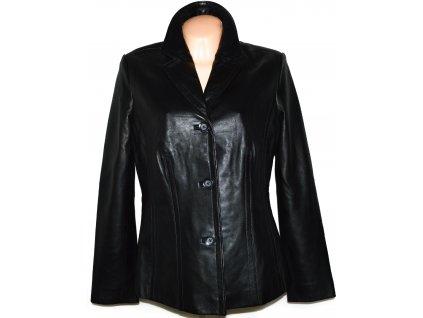 KOŽENÉ dámské černé měkké sako SONOMA L/XL