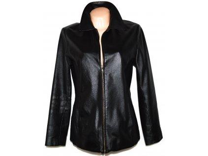KOŽENÁ dámská černá měkká bunda na zip Gina Mariolano M