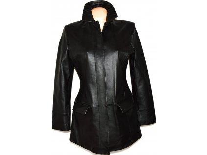 KOŽENÝ dámský měkký černý kabát AMARANTO