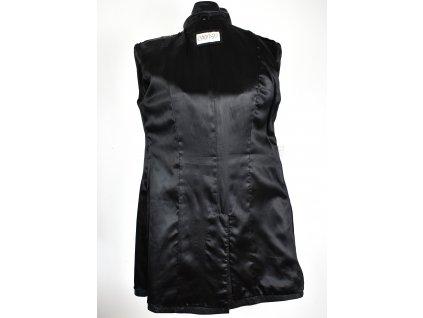 KOŽENÝ dámský černý kabát Calypso