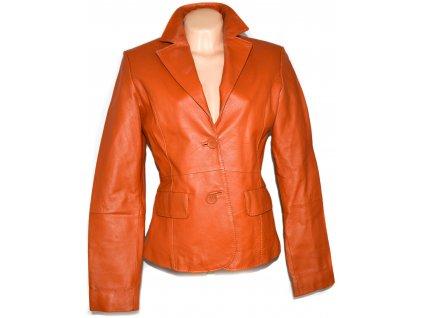 KOŽENÉ dámské oranžové sako AMISU
