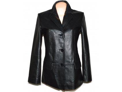 KOŽENÝ dámský měkký černý kabát / sako Fashion Concept
