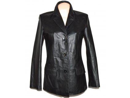 KOŽENÉ dámské měkké černé sako Fashion Concept