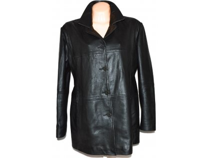KOŽENÝ dámský měkký černý kabát KARA XXL