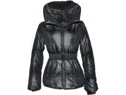 Dámský šedý šusťákový kabát s páskem L