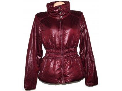Dámská vínová šusťáková bunda na zip KENVELO L
