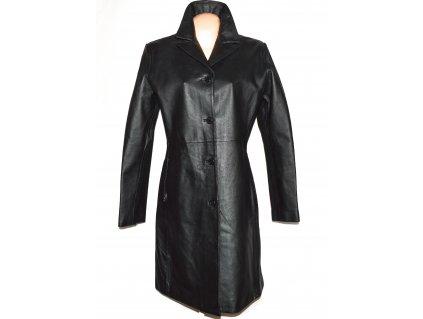 KOŽENÝ dámský dlouhý měkký černý kabát Calypso XL