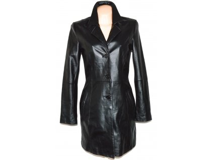 KOŽENÝ dámský černý měkký kabát Different 36, 42