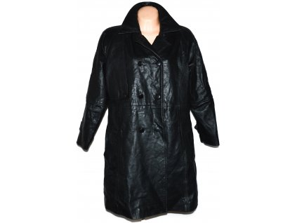 KOŽENÝ dámský černý měkký kabát GAPELLE