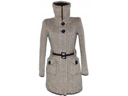 Vlněný dámský zateplený kabát s páskem na zip ORSAY