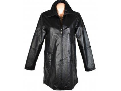 KOŽENÝ dámský černý zateplený kabát Different M/L, XL, XXXL