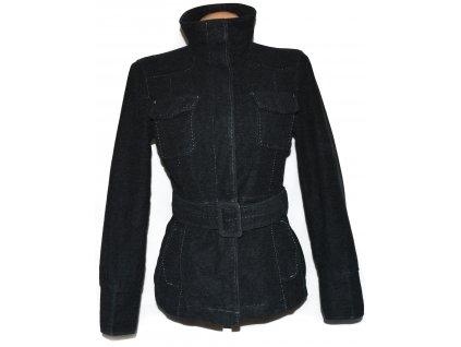 Bavlněný dámský šedý kabát s páskem NEXT 42