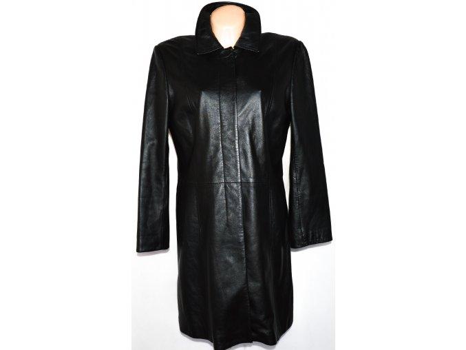 KOŽENÝ dámský měkký černý kabát Marks&Spencer L, XL