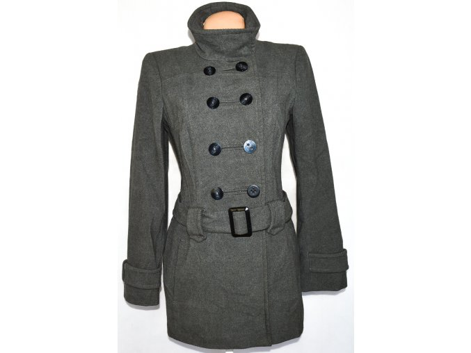 Dámský šedý kabát s páskem GEORGE vel. L
