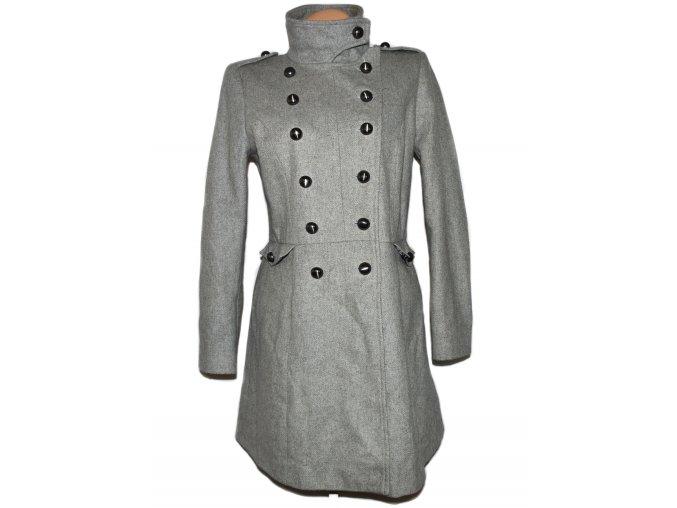 Vlněný dámský šedý kabát TOPSHOP L