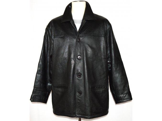 KOŽENÁ pánská měkká černá bunda ARM'S XL