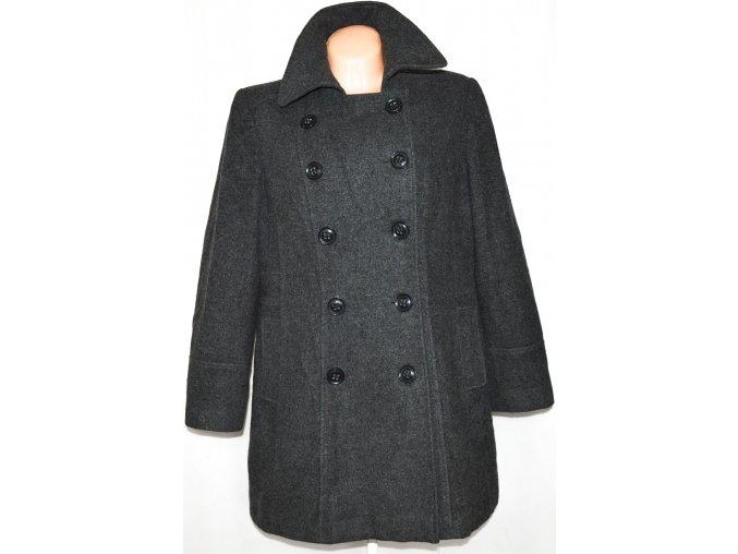 Vlněný (80%) dámský šedý kabát BHS 16/44