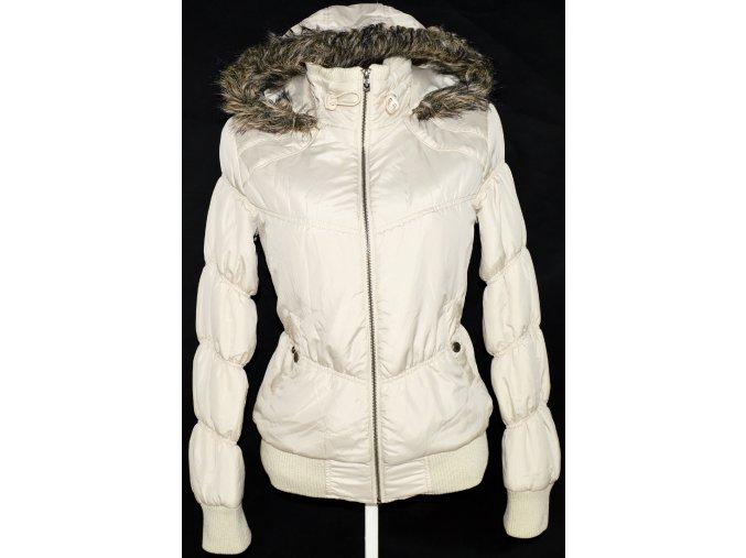 Dámská béžová prošívaná bunda na zip CLOCKHOUSE XL