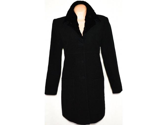 Vlněný dámský černý kabát L/XL