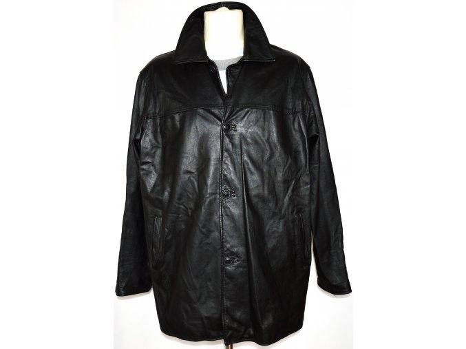 KOŽENÁ pánská měkká černá bunda XL
