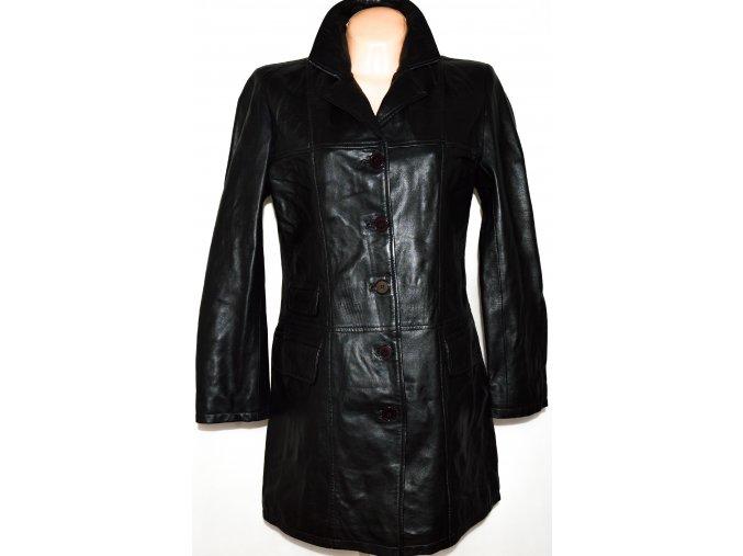 KOŽENÝ dámský černý měkkoučký kabát vel. L