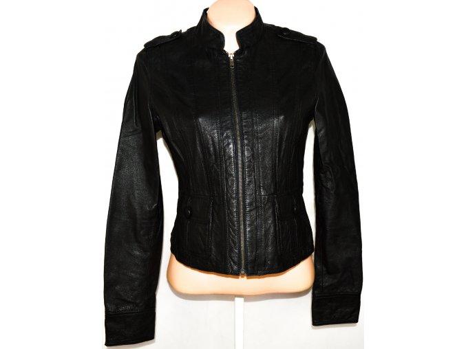 KOŽENÁ dámská černá měkká bunda na zip NEW LOOK M