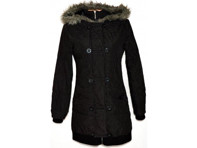 Dámský černý puntíkovaný kabát Hooch vel. M